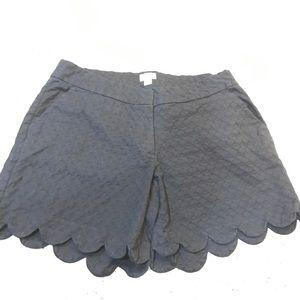 Crown &Ivy Black Scalloped hem shorts Size 14W